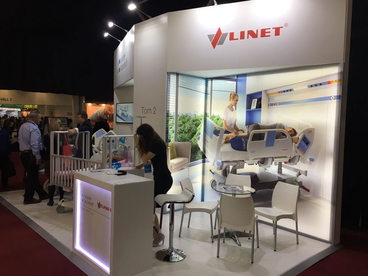 Linet booth at Africa Health