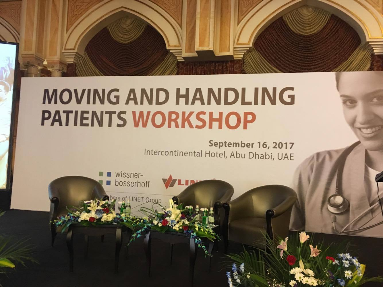 Moving and handling workshop at Abu Dhabi