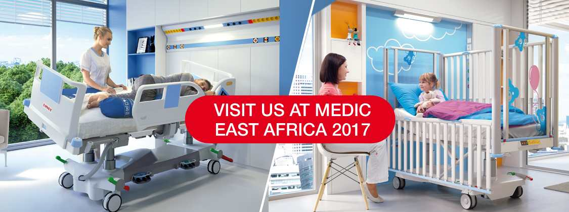 Linet at Medic East Africa in Nairobi - invitation