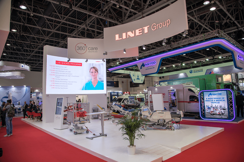 LINET booth Arab Health 2019